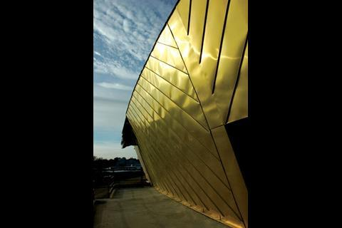 Gold coloured metal will cover the building